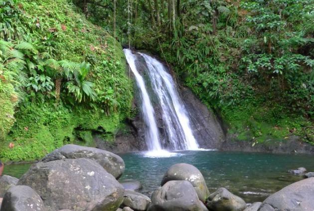 Wodospad Langusty, Basse-Terre