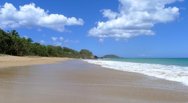 La plage de Cluny, Basse-Terre