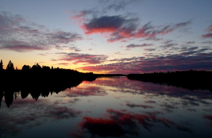 Droga powrotna - granica między Szwecją a Finlandią