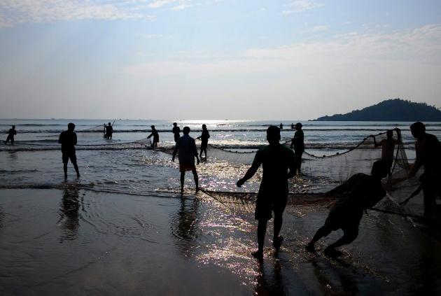 Poranek na plaży w Palolem