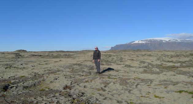 W tle lodowiec Langjökull