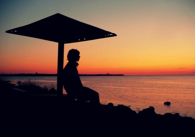 Zachód słońca w Czarnomorskie
