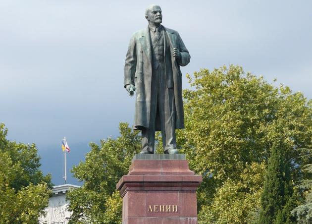 Na zakończenie jeden z licznych krymskich posągów Lenina