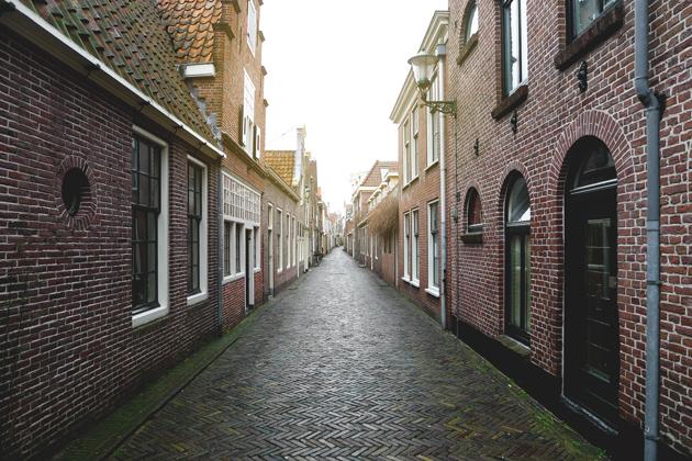 Jedna z uliczek w Alkmaar