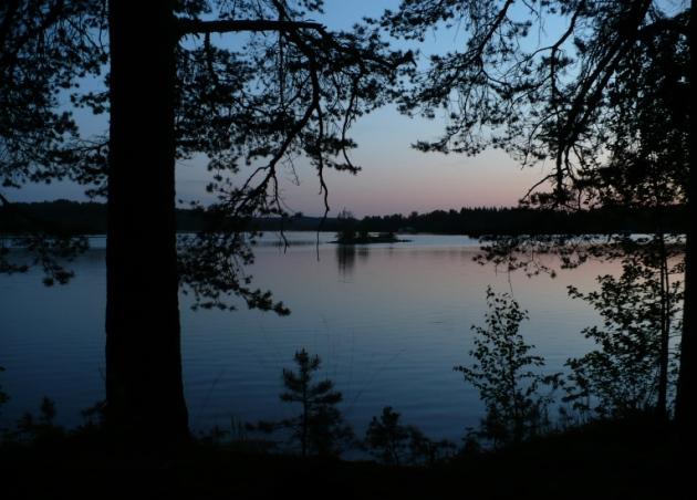 Nocleg na budowie - widok po wyjściu z namiotu (Savonlinna, Finlandia)