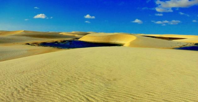 Lencois Maranhenses - pustynne laguny na północy Brazylii