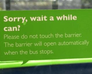 Singlish w autobusie