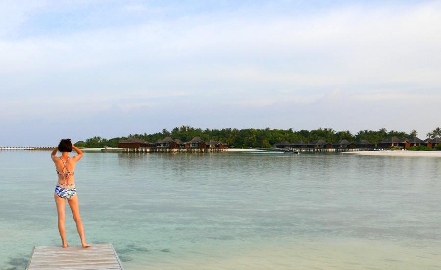 Malediwy - zachód słońca