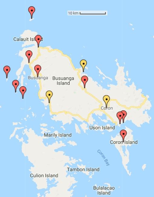 Busuanga - mapa