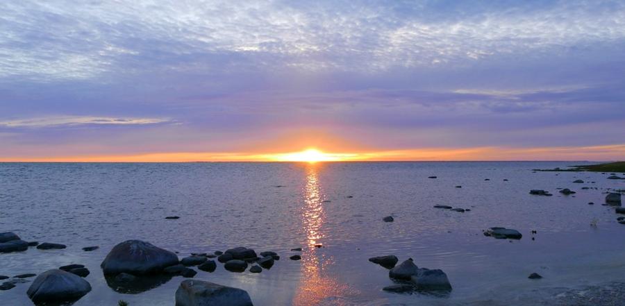 Zachód słońca na Saremie