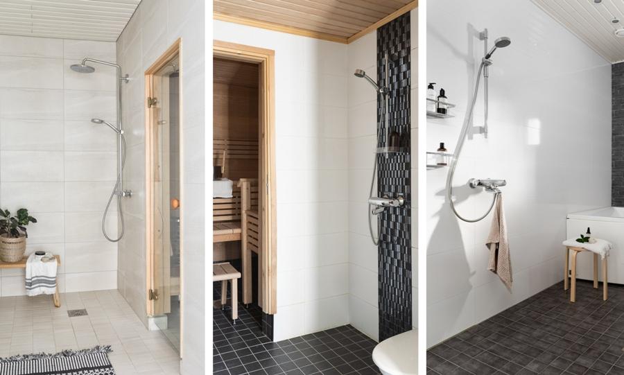 Prysznice w Finlandii