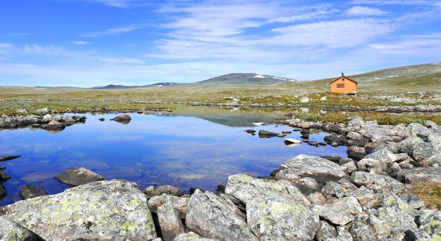 Pięknie położony domek norweski przy granicy z Finlandią (Käsivarsi)