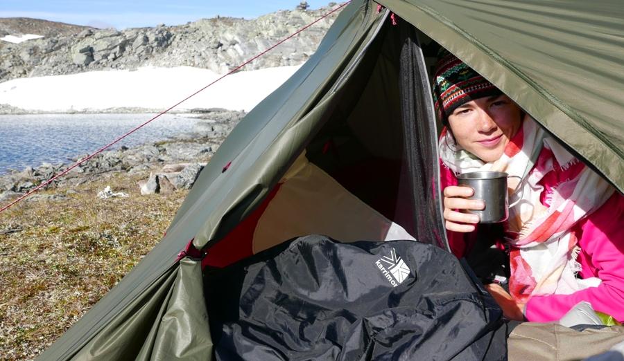 Trekking w Finlandii - spanie pod namiotem
