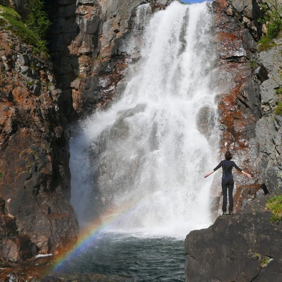 Wodospad Fiellu - Rezerwat Kevo