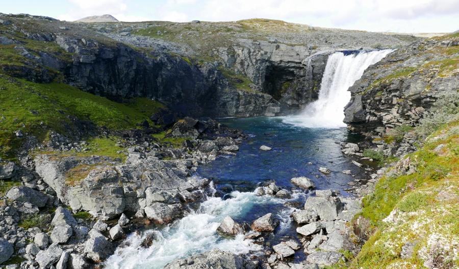 Kasivarsi - Pihtsuskongas - największy wodospad w Finlandii