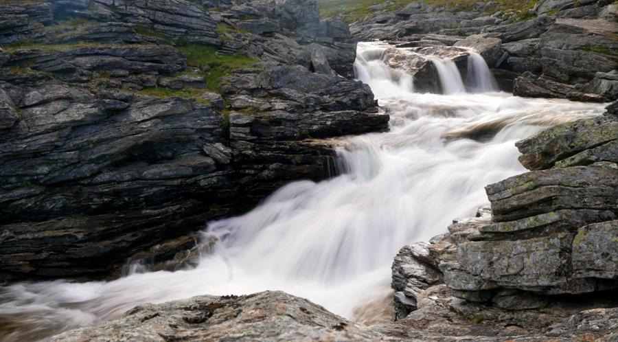 Wodospad na rzece Bihcosjohka